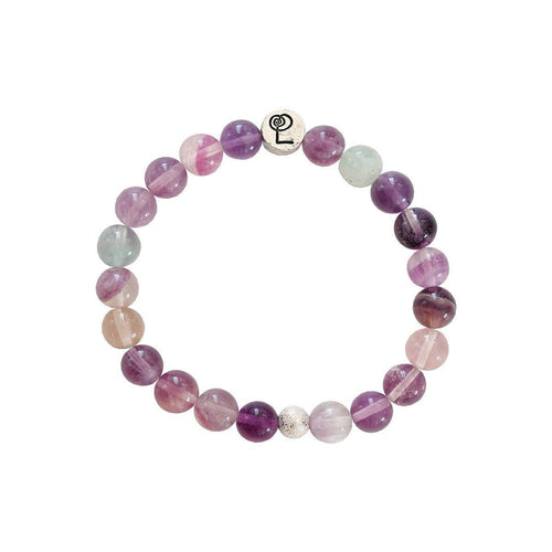 Healing Purple Banded Fluorite Bangle-Bracelets-Lucy and Penny-JewelStreet