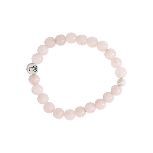 Healing Rose Quartz Bangle-Bracelets-Lucy and Penny-JewelStreet