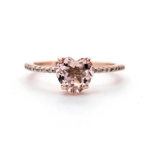Heart Morganite Ring-Rings-Oh my Christine Jewelry-JewelStreet
