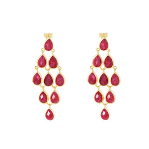 Hera Nine Stone Drop Earrings