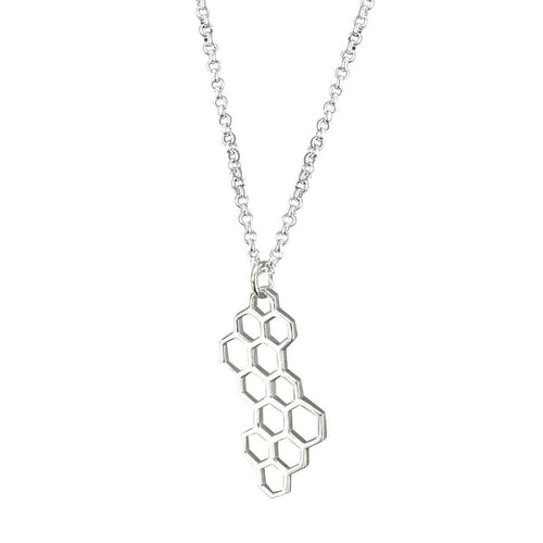 Honeycomb Necklace - Sterling Silver ,[product vendor],JewelStreet