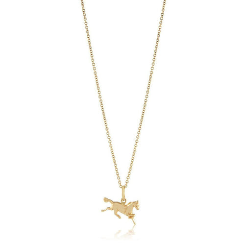 Horse Charm Necklace-Necklaces-Emily & Ashley-JewelStreet