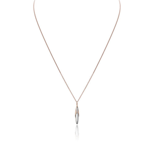 Hun Pitou Duel Length Rose Gold and Silver Pendant-Necklaces-Vurchoo-JewelStreet