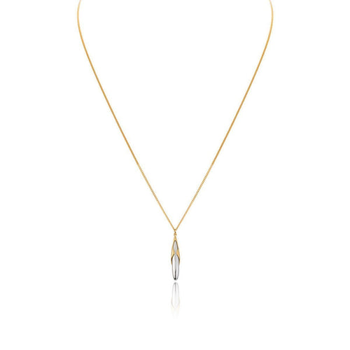 Hun Pitou Duel Length Yellow Gold and Silver Pendant-Necklaces-Vurchoo-JewelStreet
