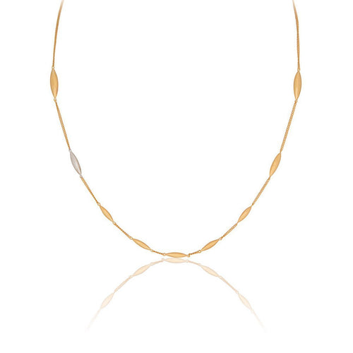 Hun Pitou Yellow Gold Vermeil and Silver Chain Necklace-Necklaces-Vurchoo-JewelStreet