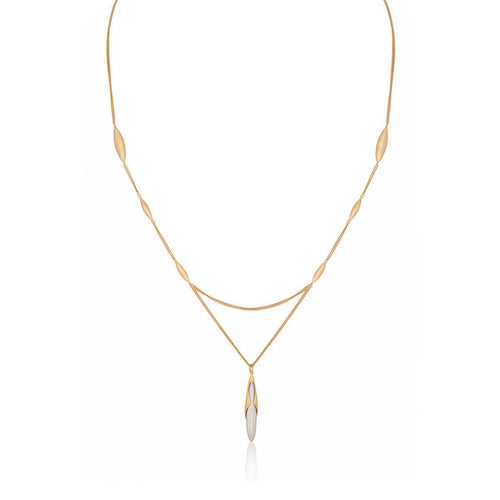 Hun Pitou Yellow Gold Vermeil and Silver Pendant-Necklaces-Vurchoo-JewelStreet