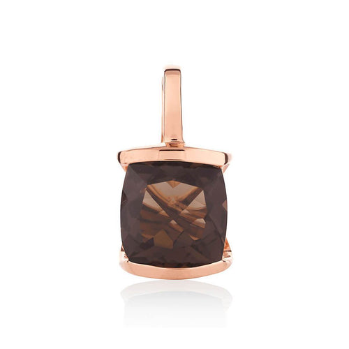 Infinity Rose Gold Smoky Quartz Pendant ,[product vendor],JewelStreet