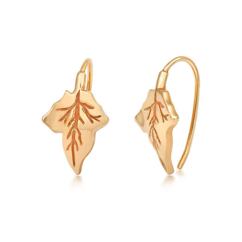 Ivy Earrings Gold-Earrings-Liz Earle Fair and Fine-JewelStreet