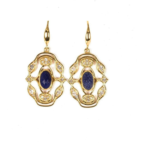 Jaipur Gold Earrings-Earrings-Neola-JewelStreet