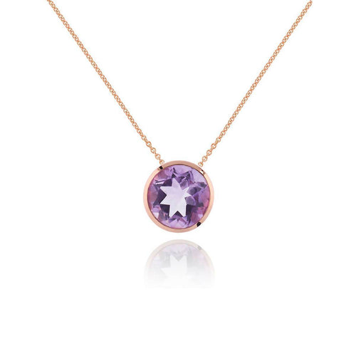 Juliet Rose Gold Amethyst Necklace ,[product vendor],JewelStreet