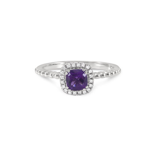 June Amethyst Stacking Ring-Rings-Estenza-JewelStreet