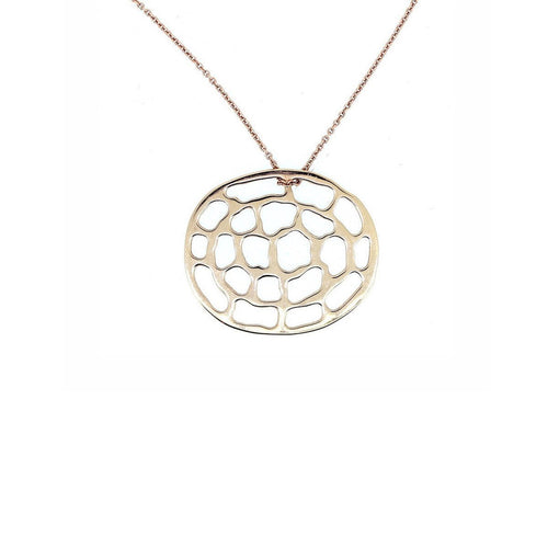 Kura Rose Gold Logo Necklace-Necklaces-Kura Fine Jewellery-JewelStreet