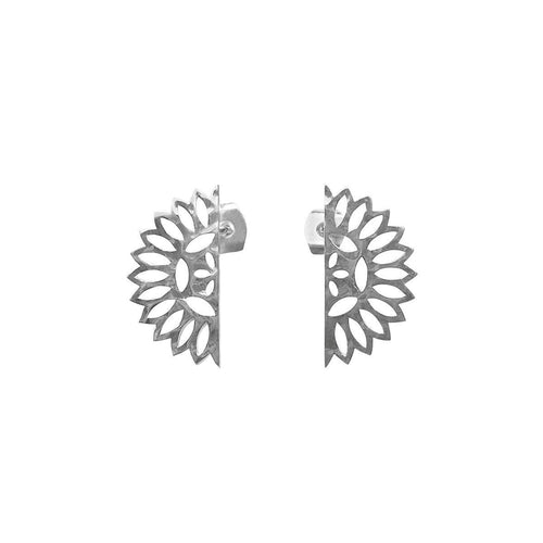 Lace Edge Small Earrings In Sterling Silver ,[product vendor],JewelStreet