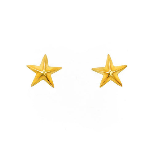 Limited Edition 18kt Gold Star Earrings ,[product vendor],JewelStreet