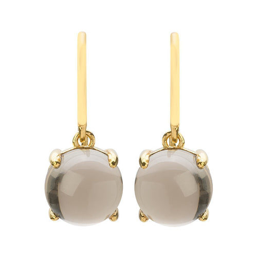 Loris Smoky Quartz Claw Set Earrings - Gold Plated ,[product vendor],JewelStreet