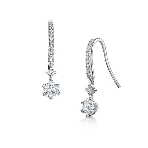 Love Diamond Earrings-Earrings-ROX - Diamonds and Thrills-JewelStreet