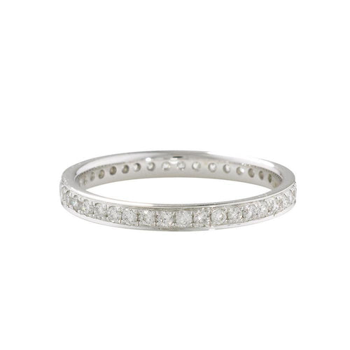 Luxury White Diamond Grain Set Stack Ring-Rings-London Road Jewellery-JewelStreet
