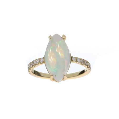 Marquise Cut Opal Ring-Rings-Oh my Christine Jewelry-JewelStreet