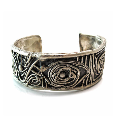 Midsummer Night's Dream Oxidized Sterling Silver Cuff-Bracelets-Private Opening-JewelStreet