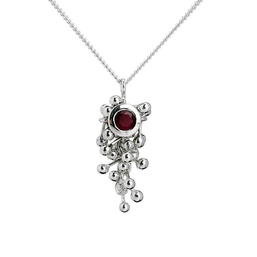 Molecule Ruby Drop Necklace-Necklaces-Yen Jewellery-JewelStreet
