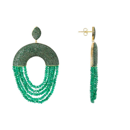 Monaco Earring Green Onyx-Earrings-Latelita London-JewelStreet