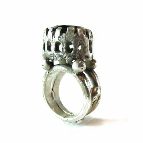 Monarch Sterling Silver Ring-Rings-Private Opening-JewelStreet