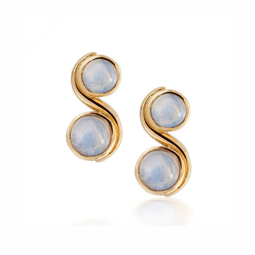 Moonstone Infinity Earrings-Earrings-Justin Richardson-JewelStreet