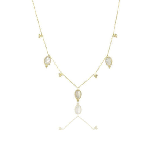 Mother of Pearl Drops Necklace-Necklaces-Freida Rothman-JewelStreet