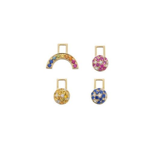 Multiple Colourful Ear Wishes-Earrings-Robinson Pelham-JewelStreet