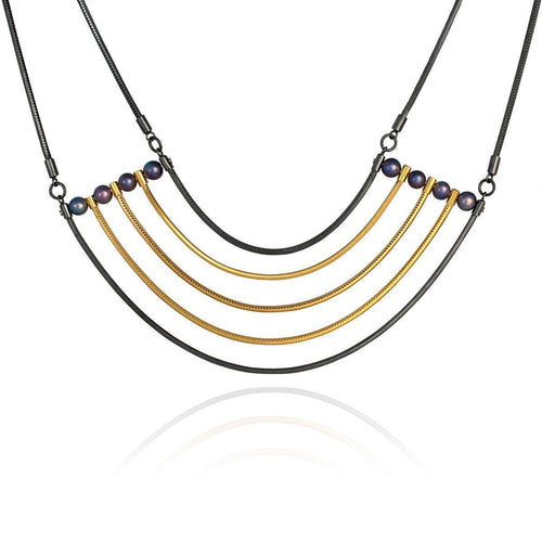 Orbit Gold Cosmos Necklace-Necklaces-Cara Tonkin-JewelStreet