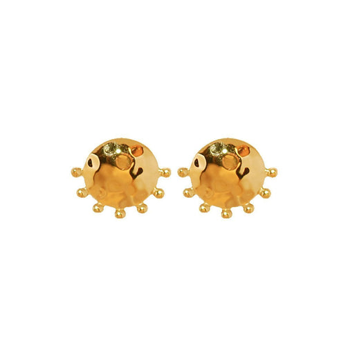 Organic Stud Earring In 18kt Yellow Gold Plate ,[product vendor],JewelStreet