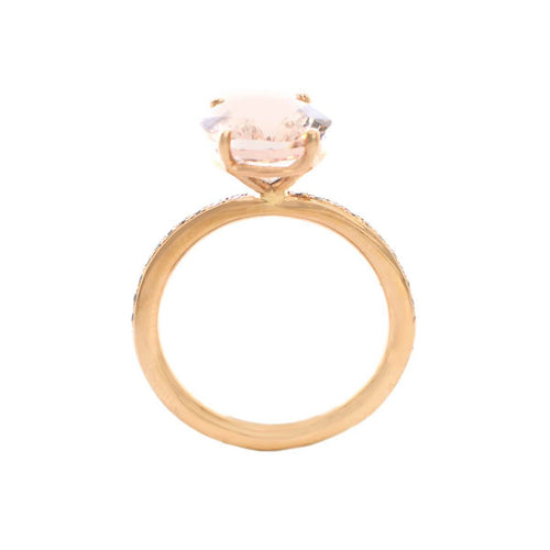 Oval Morganite Rose Gold Ring ,[product vendor],JewelStreet