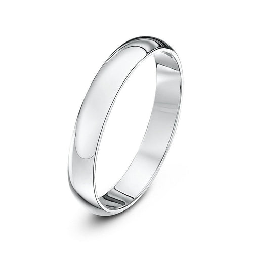 Palladium 950 Medium D Wedding Ring (Available In Various Widths)-Rings-Star Wedding Rings-JewelStreet