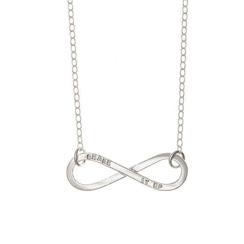 Personalised Infinity Necklace-Necklaces-Posh Totty Designs-JewelStreet