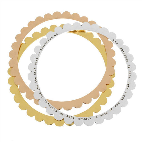 Personalised Scalloped Bangle-Bracelets-Posh Totty Designs-JewelStreet