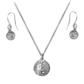 Lily & Lotty Natalie Silver And Diamond Circular Necklace YMAgf6Phc