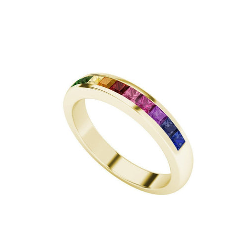 Rainbow Ring in 9kt Yellow Gold-Rings-StyleRocks-JewelStreet