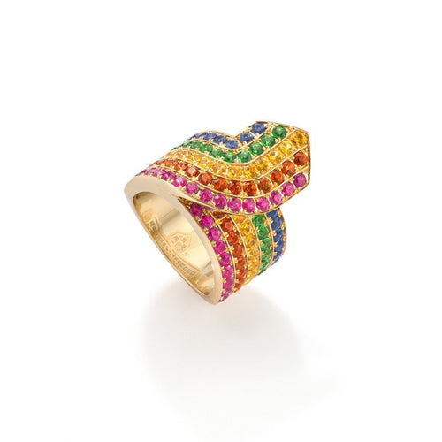 Rainbow Tron Ring-Rings-Robinson Pelham-JewelStreet