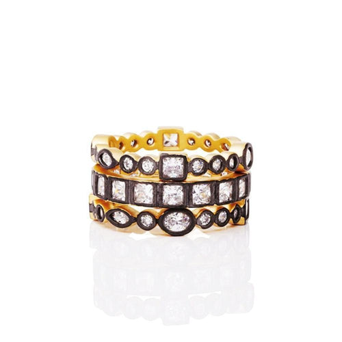 Reverse Mixed Stone Radiance Set of 3 Rings ,[product vendor],JewelStreet