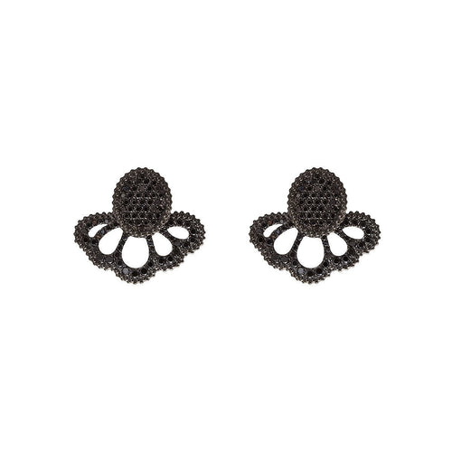 Revoada Pave Earrings With Black Diamonds ,[product vendor],JewelStreet