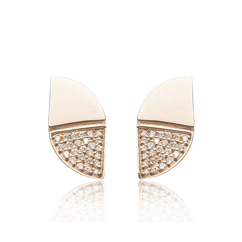 Rose Gold Glamorous Diamond Earrings-Earrings-Xavier Civera-JewelStreet