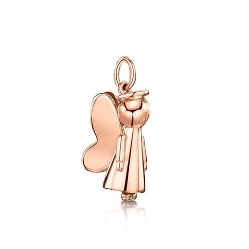 Rose Gold Guardian Angel Pendant-Necklaces-Becky Rowe-JewelStreet