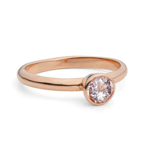 Rose Gold Morganite Solitaire ,[product vendor],JewelStreet