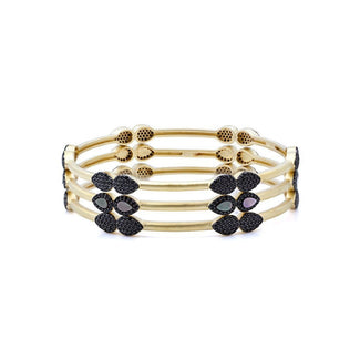 Freida Rothman Slated Set of 3 Noir Droplet Bangles igwxE7dS