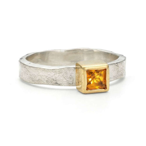 Square Citrine Storybook Ring ,[product vendor],JewelStreet