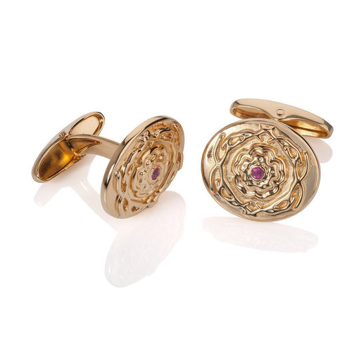 Ruby and Vermeil Stanhill Cufflinks ,[product vendor],JewelStreet