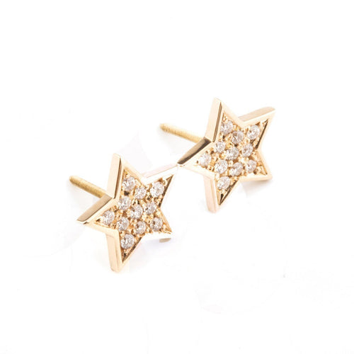 Star Diamond Earrings-Earrings-Oh my Christine Jewelry-JewelStreet
