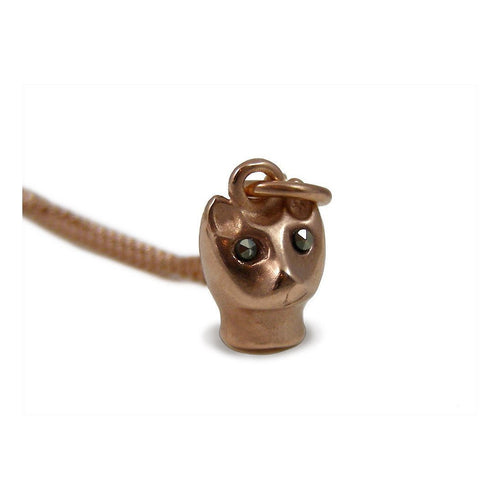 Cat Pendant Rose Gold-Necklaces-Vicky Davies-JewelStreet