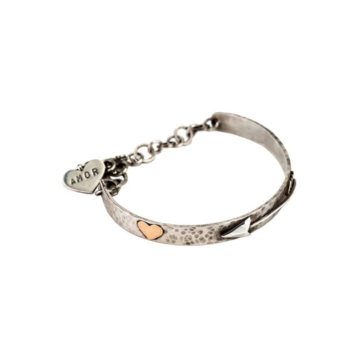 Sterling Silver & 9ct Gold Cupid Bangle ,[product vendor],JewelStreet