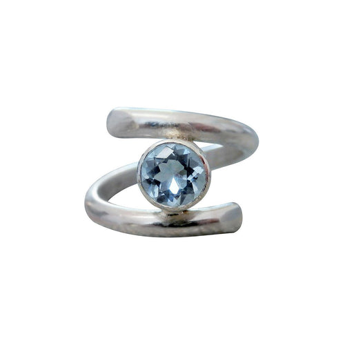 Opulence Ring With Aquamarine-Rings-Sheila Kerr-JewelStreet